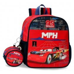 Mochila de Guardería de 25 cm  con bolsos de rejilla laterales de Cars Colección Rocket Racing