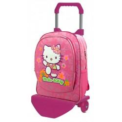 Mochila Grande 41 cm con Carro Hello Kitty
