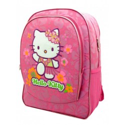 Mochila Grande 41 cm Adaptable a Carro Hello Kitty