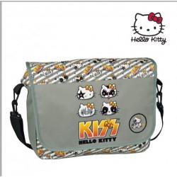 Bandolera 38 cm con Solapa Portaordenador Hello Kitty