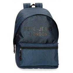 Mochila Grande 42 cm  Portaordenador de 15.6 Pulgadas Pepe Jeans Bromley azul