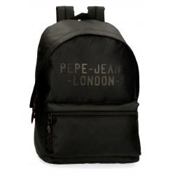Mochila Grande 42 cm  Portaordenador de 15.6 Pulgadas Pepe Jeans Bromley  Negro