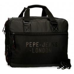 Portaordenador de 15.6 Pulgadas Adaptable a Trolley Pepe Jeans Bromley en color  Negro