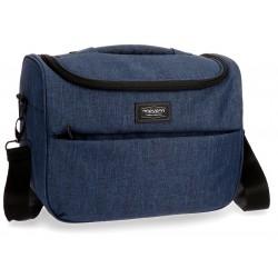 Neceser Adaptable a Trolley con Bandolera Movom colección Ottawa en color Azul