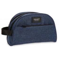 Neceser Doble Compartimento con Bolso Frontal Movom Ottawa en color Azul