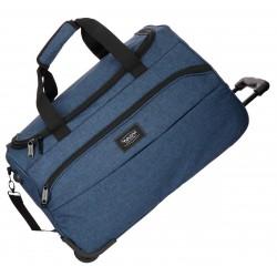 Bolsa de Viaje de 55 cm con Ruedas y Bandolera Movom Ottawa en color Azul