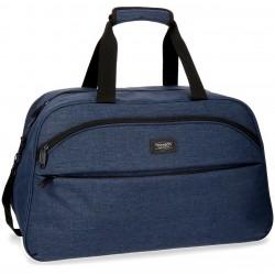 Bolsa de Viaje de 55 cm con Asas y Bandolera Movom Colección Ottawa Azul