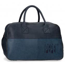 Bolsa de Viaje de 50 cm en Piel Sintética Pepe Jeans colección Max en color azul