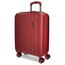 Maleta de 55 cm Cabina en ABS de 4 Ruedas Movom Wood  Rojo