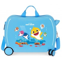 Maleta Infantil Correpasillos de 4 Ruedas Baby Shark My Good Friend