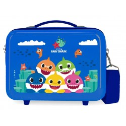 Neceser en ABS  Adaptable a Trolley con Bandolera Baby Shark Happy Family