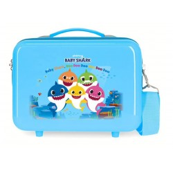 Neceser en ABS Adaptable a Trolley con Bandolera Baby Shark Family