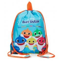 Bolsa de Merienda o Saco con Cuerdas Baby Shark