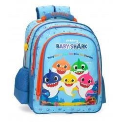 Mochila Infantil de 38 cm Tamaño Medio con Trasera Acolchada Baby Shark