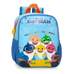 Mochila Guardería 25 cm con Bolsos laterales de Red Baby Shark