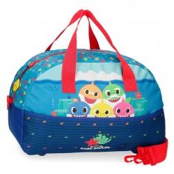 Bolsa de Viaje Infantil 40 cm con Asa y Bandolera Baby Shark Happy Family