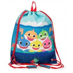 Bolsa de Merienda Infantil con Cuerdas  Baby Shark Happy Family