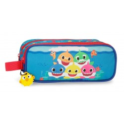 Estuche Infantil Doble Compartimento Baby Shark Happy Family
