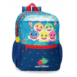 Mochila Infantil 32 cm con Bolso Frontal Baby Shark Happy Familly