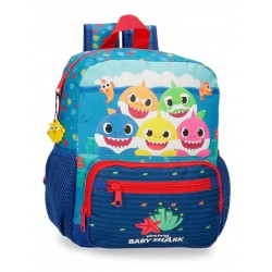 Mochila Infantil 28 cm Adaptable a Carro Baby Shark Happy Family