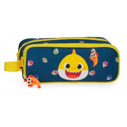Estuche Infantil de Doble Compartimento Baby Shark My Good Friend