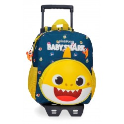 Mochila de Guardería 28 cm con Bolso Frontal y con Carro  Baby Shark My Good Friend