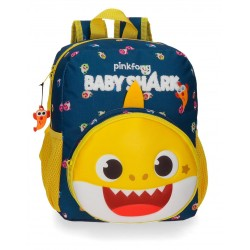 Mochila de Guardería 28 cm con Bolso Frontal  Adaptable a Carro  Baby Shark My Good Friend