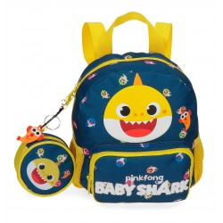 Mochila Infantil de 23 cm con Bolso Frontal  Baby Shark My Good Friend