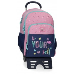 Mochila Doble Comopartimento con Cantoneras de Goma y con Carro Roll Road Be Yourself