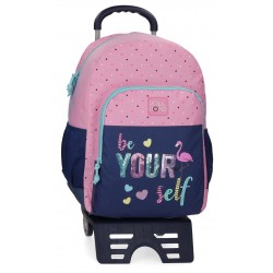 Mochila 46 cm Un Compartimento con Cantoneras y con Carro Roll Road Be Yourself