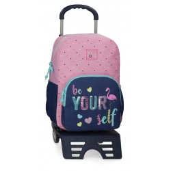 Mochila 40 cm de un Compartimento con Carro Roll Road Be Yourself