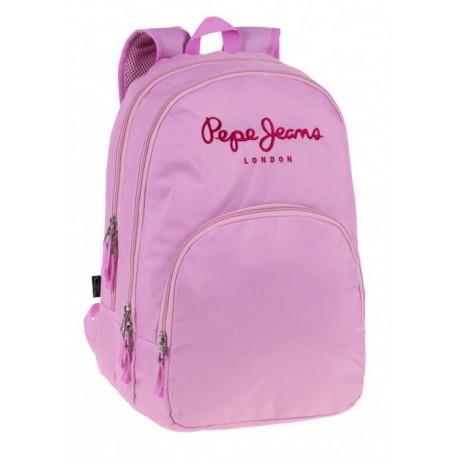 Mochila Doble Compartimento Pepe Jeans Pink