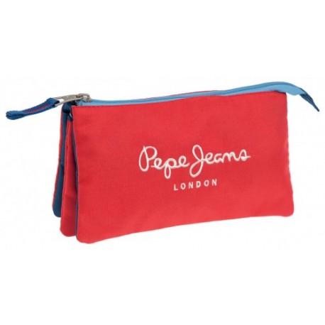 Portatodo Tres Compartimentos Pepe jeans Bicolor