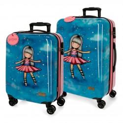 Juego maletas Cabina y Mediana Rígidas en ABS de 4 Ruedas  Gorjuss Dancing  Among The Stars