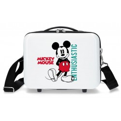 Neceser Rígido en ABS con Bandolera y Adaptable a Trolley Mickey Enthusiastic