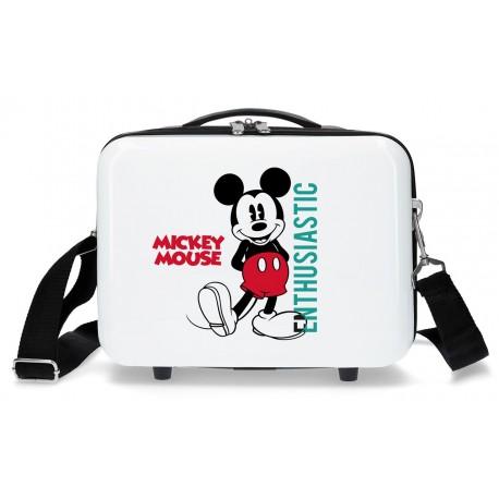 Neceser Rígido en ABS con Bandolera y Adaptable a Trolley Mickey Enthusiastic
