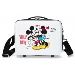 Neceser Rígido en ABS Adaptable a Trolley con Bandolera Mickey y Minnie True Love