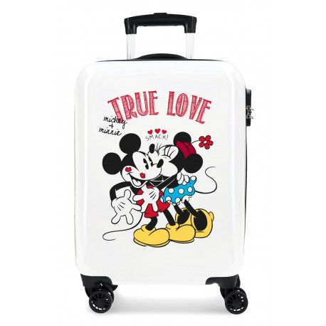 Maleta cabina Rígida en ABS de 4 Ruedas Mickey y Minnie True Love
