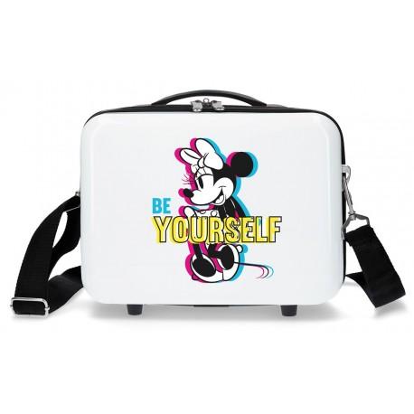 Neceser Rígido en ABS  Adaptable a Trolley y con Bandolera Be Yourself Minnie