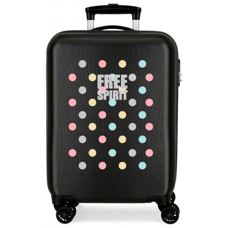 Maleta de Cabina ABS de 4 Ruedas dobles Movom Free Dots