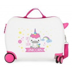 Maleta Infantil 50 cm Correpasillos Roll Road Little Me Unicorn