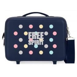 Neceser Rígido en ABS Adaptable a Trolley Movom Free Dots Azul