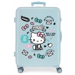 Maleta mediana Rígida en ABS  Hello Kitty You Are Cute Azul Claro
