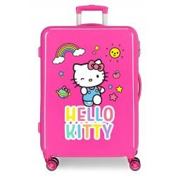 Maleta Mediana Rígida en ABS Hello Kitty You Are Cute Fucsia