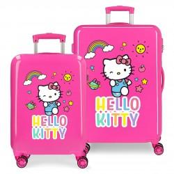 Juego Maletas Cabina y Mediana Rígidas en ABS Hello Kitty You Are Cute