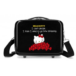 Neceser Rígido en ABS Adaptable a Trolley Hello Kitty Bow Of Hello Kitty Marino