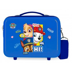 Neceser Rígido en ABS Adaptable a Trolley Patrulla Canina Be Happy Azul