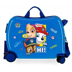 Maleta Infantil Rígidas en ABS de 4 Ruedas Patrulla Canina Be Happy Azul