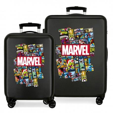 Juego Maletas Cabina y Mediana en ABS Comic Marvel