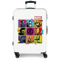Maleta Mediana Rígida en ABS de 4 Ruedas Avengers Comic